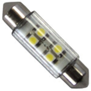 AMPOULE 12V LED T11 39MM 2X4 LEDS 360o
